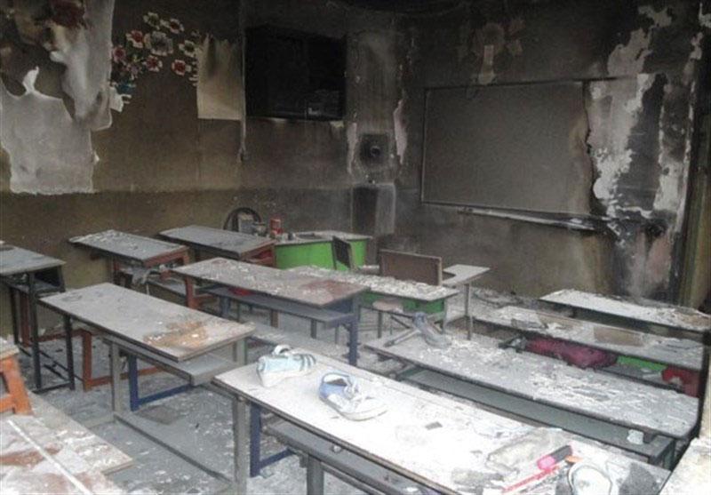 آتش سوزی شین آباد بار دیگر در مدرسه سیستان و بلوچستان