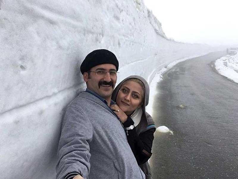 وحید آقاپور و همسرش