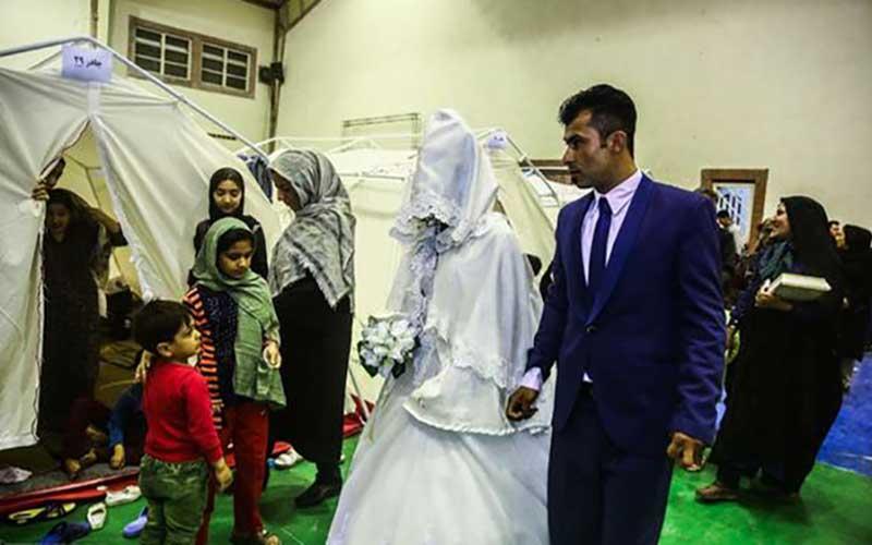 مراسم عروسی سیل زدگان در آق قلا