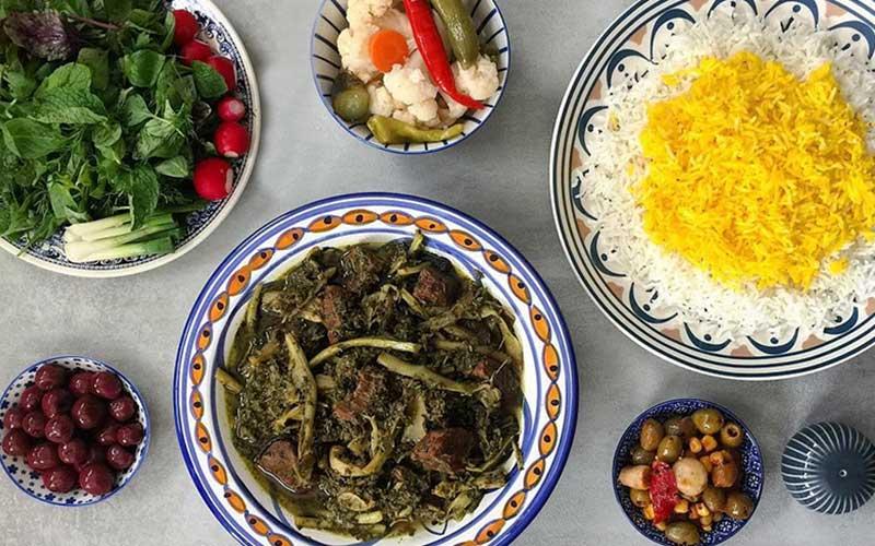 طرز تهیه خورش کنگر با گوشت و مرغ