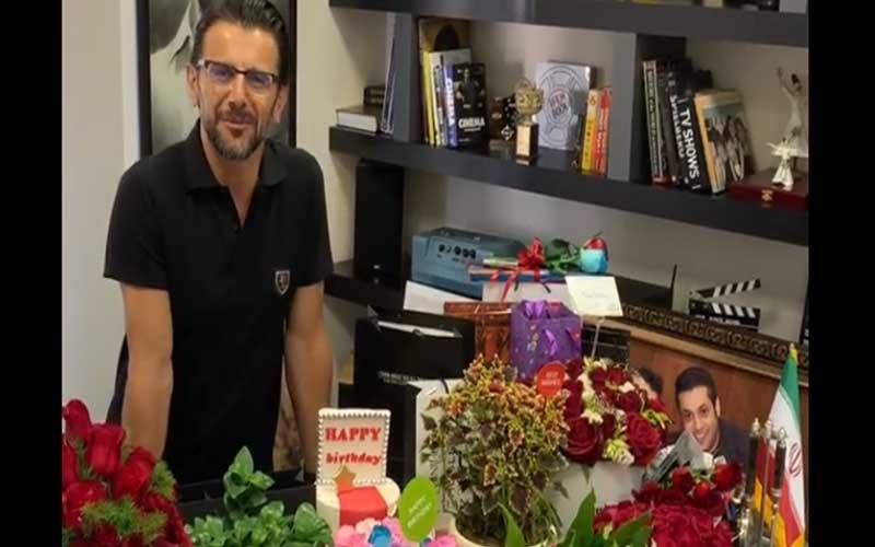 فیلم جشن تولد ۴۹ سالگی امین حیایی