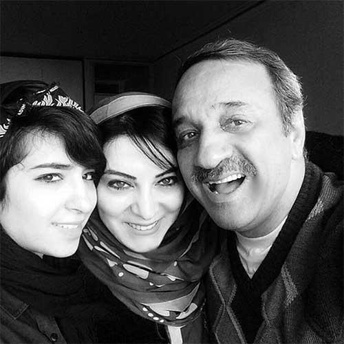 حمیرا ریاضی در کنار همسر و دخترش