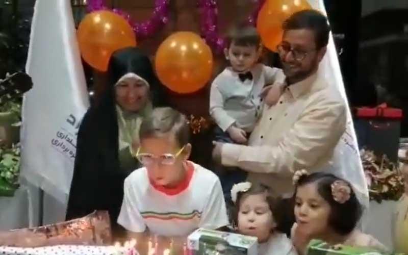 جشن تولد پسر دکتر بشیر حسینی در کنار بچه های عصرجدید
