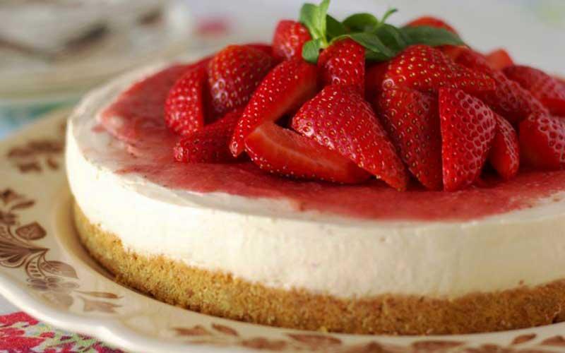 طرز تهیه چیز کیک با بیسکویت