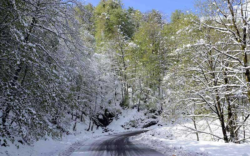 زمستان جاده اسالم به خلخال
