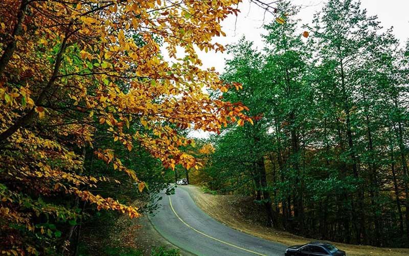 فصل پاییز جاده اسالم به خلخال