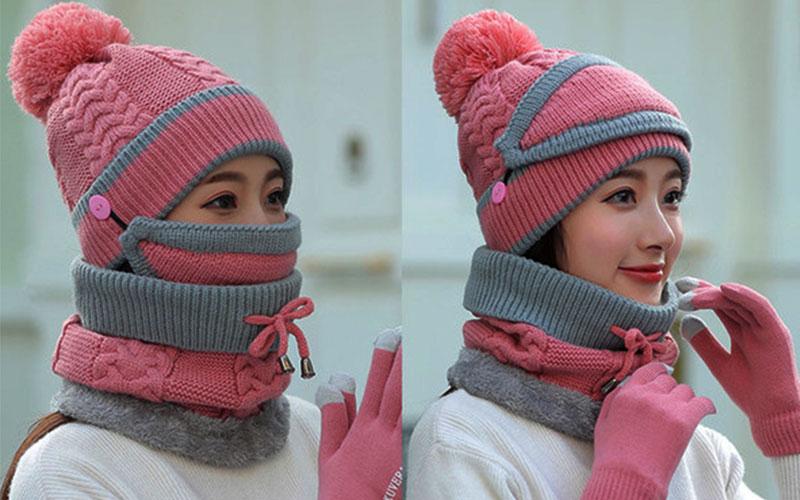مدلهای جدید کلاه و شال گردن بافتنی دخترانه و زنانه