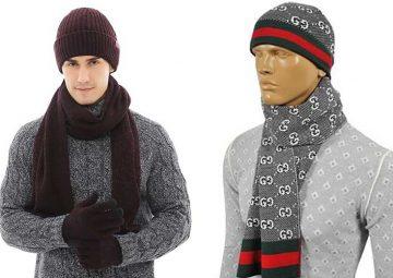 مدل جدید کلاه و شال گردن بافتنی پسرانه و مردانه