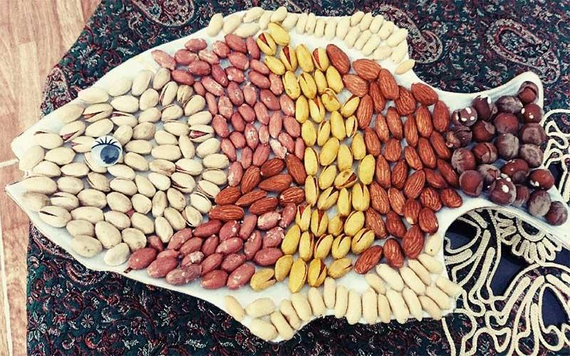تزیین آجیل شب یلدا و عید نوروز