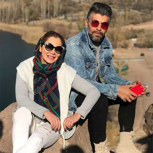 علی فرهنگی و همسرش