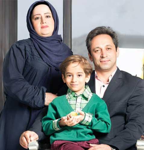 عرفان برزین و پدر و مادرش