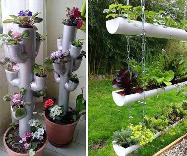 تزیین گل و گیاه با لوله پولیکا