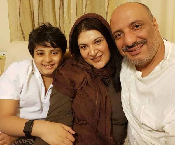 ریما رامین فر و همسر و پسرش