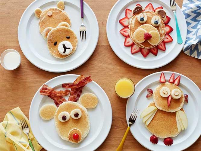 تزیین صبحانه کودک با میوه