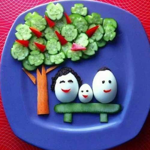ایده های جالب برای تزیین صبحانه کودکان