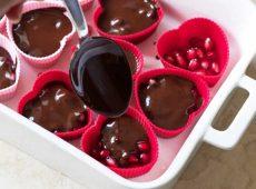 طرز تهیه شکلات اناری دسر  شب یلدا