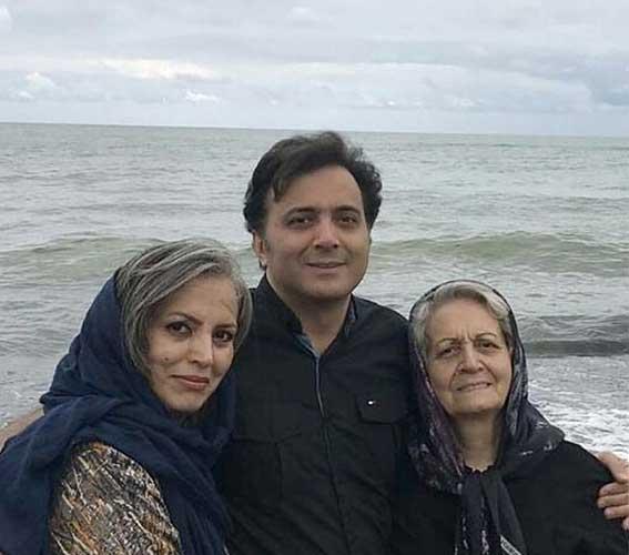 مجید اخشابی و مادر و خواهرش