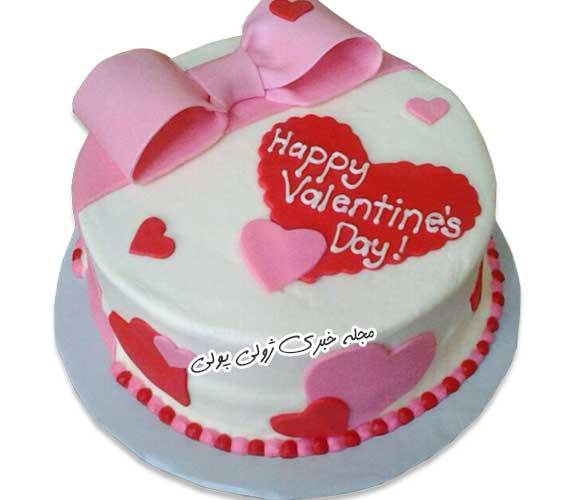 کیک ولنتاین با خامه
