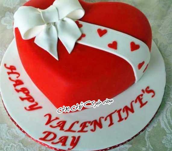 کیک ولنتاین عاشقانه دو نفره