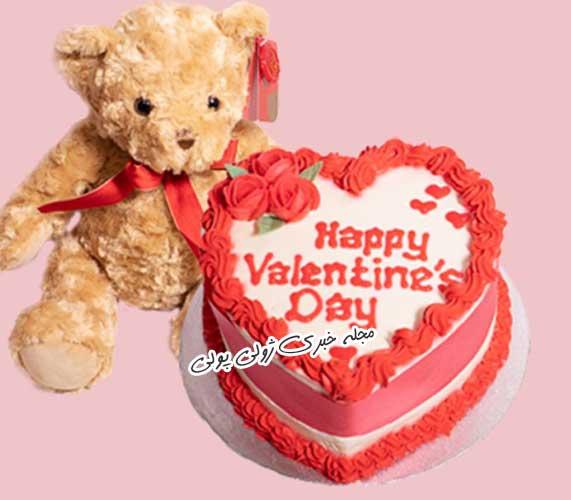 کیک ولنتاین مبارک
