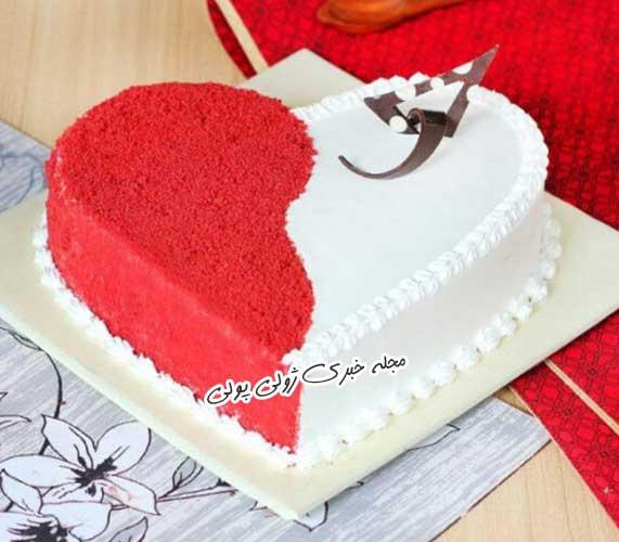 کیک ولنتاین ساده