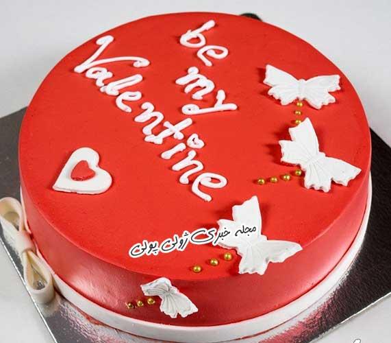 کیک ولنتاین قرمز