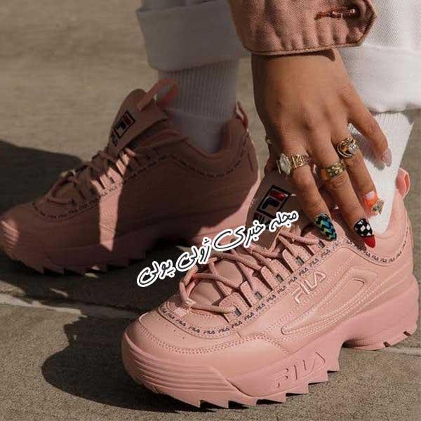 کفش کتونی بنددار دخترونه