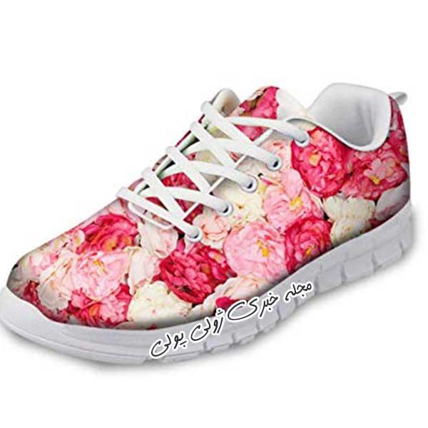 کفش کتونی گلدار دخترونه