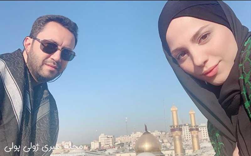 عکس محیا اسناوندی و همسرش