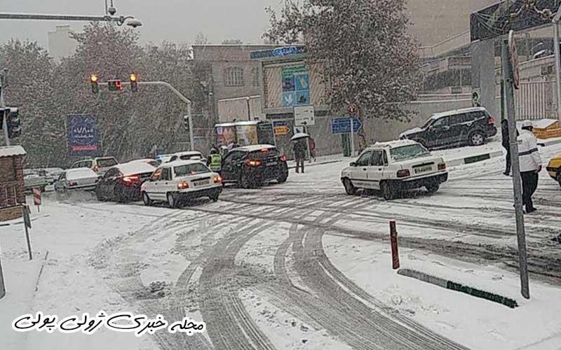 آخرین وضعیت بارش برف در تهران