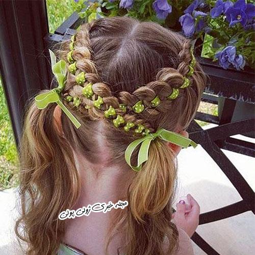 بافت موی زیبای دخترانه
