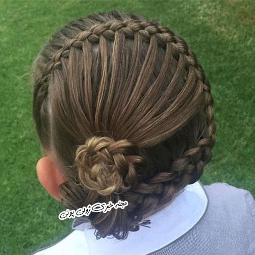 بافت مو به شکل گل رز