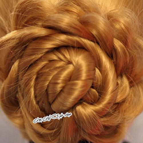 بافت مو به شکل سبد