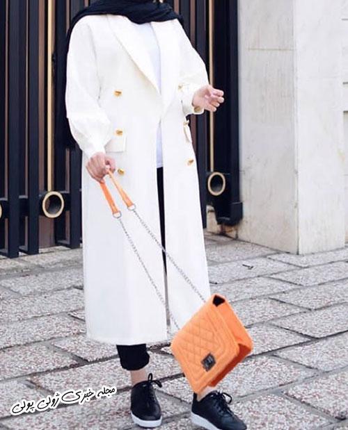 مانتو مدل جدید دخترانه سفید