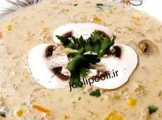 طرز تهیه سوپ جو با قارچ و خامه + طرز تهیه سوپ جو با خامه