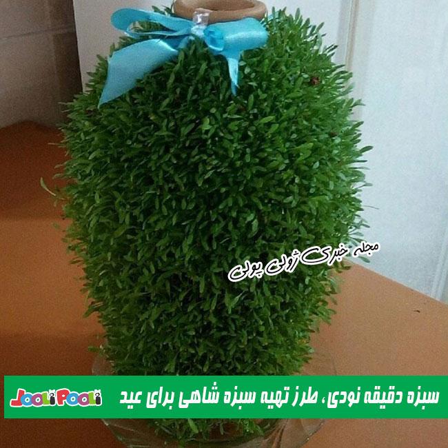 طرز تهیه سبزه شاهی برای عید