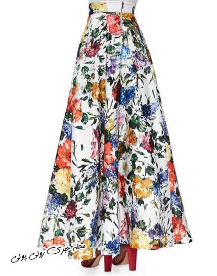 مدل دامن گل گلی بلند