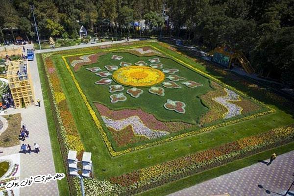 فرش گل باغ گلهای کرج