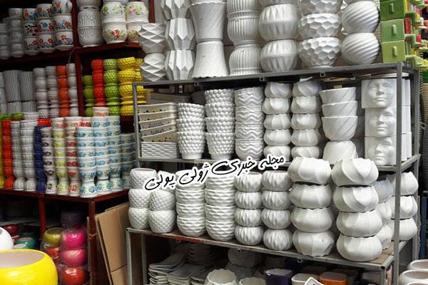 سالن گلدان بازار گل و گیاه غرب تهران