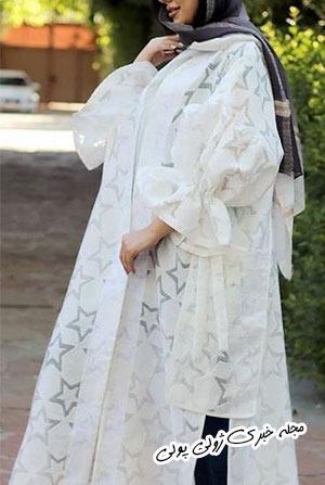 مانتو جلو باز مدل عروس