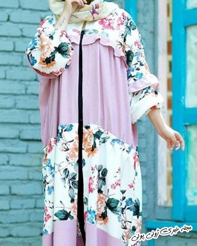 مانتو گلدار تابستانی