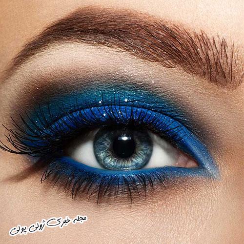 مدل سایه چشم آبی