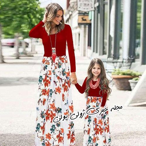 پیراهن تابستانی ست مادر دختری