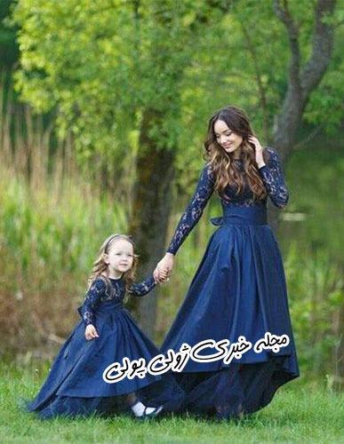 لباس مجلسی پوشیده ست مادر و دختر