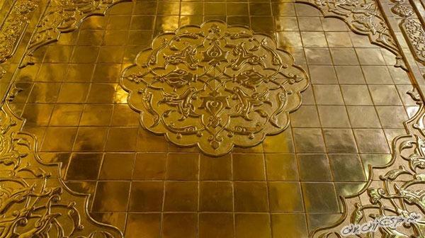 عکس ایوان طلای حرم حضرت ابوالفضل در کربلا