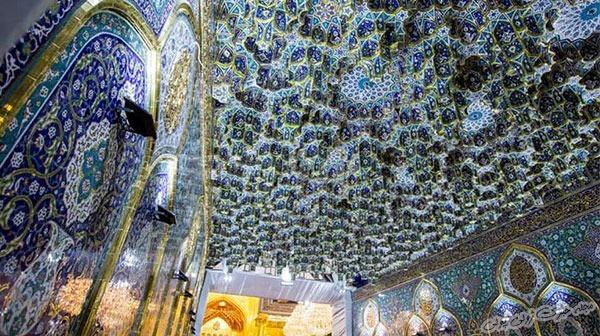 تصویر ایوان طلای حرم حضرت عباس
