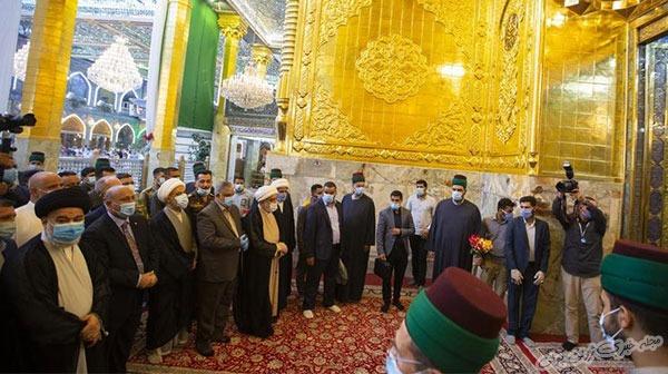 عکس ایوان طلای حرم حضرت عباس