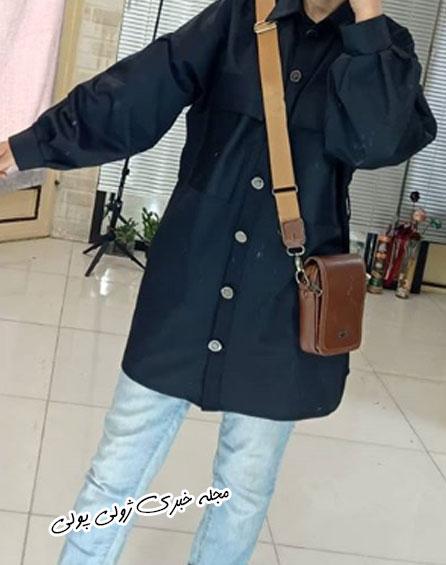 مدل مانتو مشکی دخترانه