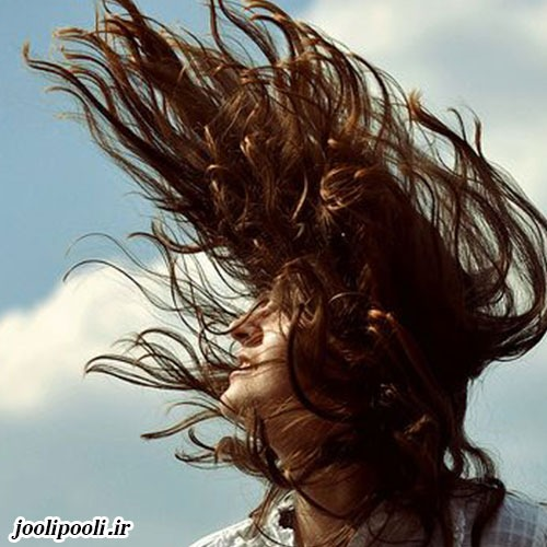 عکس دخترونه با موهای پریشان برای پروفایل