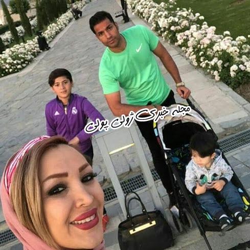 عکس امیرحسین صادقی و همسرش